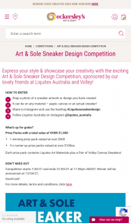 Eckersley's Art & Craft – Win Art & Sole Sneaker Design Competition (prize valued at $500)
