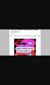 Frontier Touring – Win a Foo Fighters Prize Pack