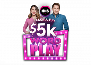 KIIS 101.1 – Jase & PJ's Word Play – Win 1 of 4 cash prizes valued at $5,000 each