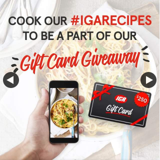 IGA – Win a $250 Gift Card