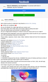 Kids in Adelaide – Win a $150 Voucher for Valentine's Day Thanks to Marina Pier (prize valued at $150)