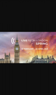 Limelight – Win a Live From London Spring Package