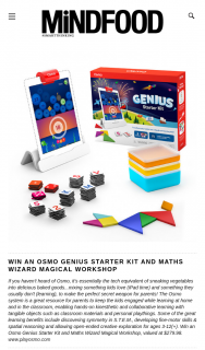 Mindfood – Win an Osmo Genius Starter Kit and Maths Wizard Magical Workshop (prize valued at $279.98)