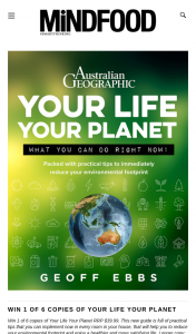 Mindfood – Win 1 of 6 Copies of Your Life Your Planet (prize valued at $39.99)