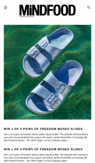 Mindfood – Win 1 of 4 Pairs of Freedom Moses Slides (prize valued at $68)