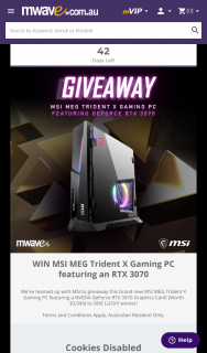MWave – Win Msi Meg Trident X Gaming Pc Featuring an Rtx 3070