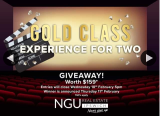 NGU Real Estate Ipswich – Win a Gold Class Experience for Two