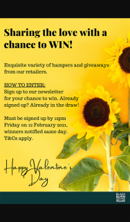 North Blackburn Shopping Centre – Win 1/10 Valentine's Day Prizes Sub to Enews (prize valued at $590)