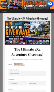 Off Road Adventure Show – Win The Ultimate 4×4 Adventure Giveaway (prize valued at $19,490)