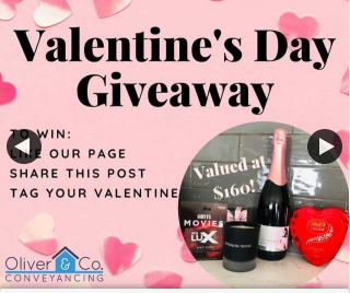 Oliver & Co Conveyancing – Win Valentine's Day Gift Pack must Pick Up Cessnock Nsw (prize valued at $160)