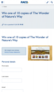 RACQ – Win One of 10 Copies of The Wonder of Nature's Way (prize valued at $59.99)
