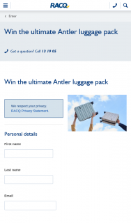 RACQ – Win The Ultimate Antler Luggage Pack (prize valued at $1,515)