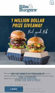 Ribs & Burgers – Win a Share of $1million In Prizes