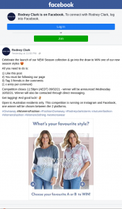 Rodney Clark – Win One of Our New Season Styles