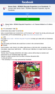 Simon Salm RE-Max Bayside Properties – Win a Valentines Day Scratchy