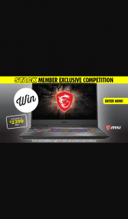 Stack magazine – Win an Msi Gaming Laptop (prize valued at $2,399)