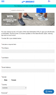 Swisse – Brooks Running – Win 1 of 2 Pairs of The New Adrenaline Gts 21 Sign Up to The Brooks E-Newsletter (prize valued at $480)