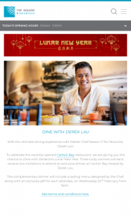 The Square Mirrabooka – Win The Ultimate Dining Experience With Master Chef Season 11 Fan-Favourite (prize valued at $100)