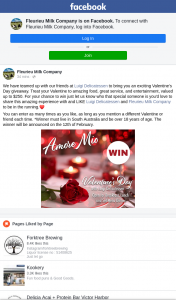 Valentines Dinner thanks to Fleurieu Milk – Win a Valentines Dinner Worth $250 at Luigi Delicatessen (prize valued at $250)