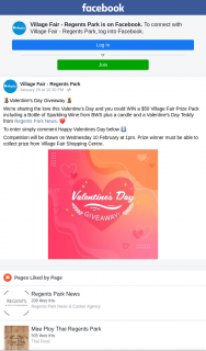 Village Fair Regents Park – Win a $50 Village Fair Prize Pack Including a Bottle of Sparkling Wine From Bws Plus a Candle and a Valentine's Day Teddy From Regents Park News