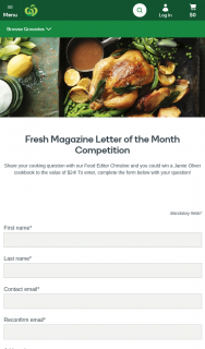Woolworths-Fresh magazine – Win a Jamie Oliver Cookbook to The Value of $24