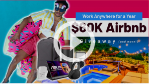 AppSumo – Work Anywhere for a Year – Win 1 of 2 grand prizes of an Airbnb gift card valued at $24,000 USD each OR 1 of 10 other prizes