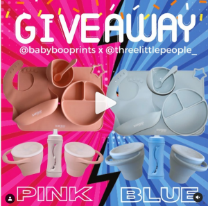 BabyBoo Prints – Win 1 of 2 gift packs in Blue & Pink
