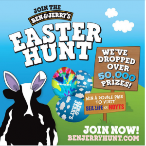 Ben & Jerry's Easter Hunt – Win 1 of over 50,000 instant prizes