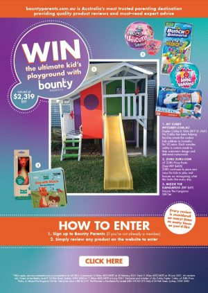 Bounty Parents – Win the Ultimate Kid's Playground valued at over $2,000