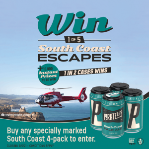 Cellarbrations – Win 1 of 5 South Coast Escapes OR many other instant win prizes