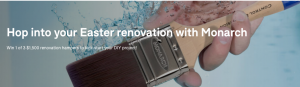 Domain Australia – Win 1 of 3 Easter renovation prize packs valued at $1,500 each