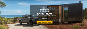 FCA Australia – Jeep Working Far From Home – Win a travel package for 2 valued at $7,000 including a trip for 2 to Tasmania