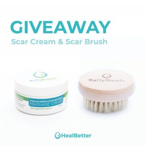 Heal Better – Abdominal Surgery Recovery – Win a Scar Brush and Scar Cream