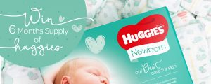 Huggies – Win 1 of 12 prizes of a 6 months' supply of Huggies products