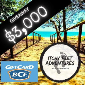Itchy Feet Adventures – Win a $3,000 gift voucher