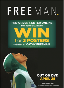 JB Hi-Fi – Freeman – Win 1 of 3 posters signed by Cathy Freeman