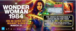 JB Hi-Fi – Wonder Woman 1984 – Win 1 of 2 major prize packs valued at $349 each OR 1 of 3 minor prize packs