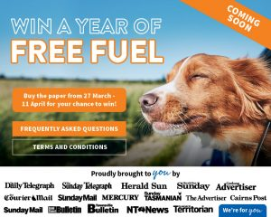 Nationwide News – Win 1 of 3 major prizes of $5,000 each worth of fuel cards OR 1 of 200 minor prizes of a $150 Ampol/Caltex fuel card each