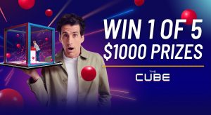 Network 10 – The Cube – Win 1 of 5 cash prizes valued at $1,000 each