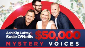 Nova106.9 – Mystery Voices – Win a major prize of $50,000 OR 1 of 3 minor prizes of $1,000 each