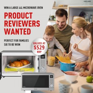 Panasonic Australia – Win 1 of 6 Panasonic Microwave ovens