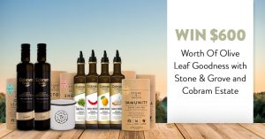 Stone & Grove – Win 1 of 3 Olive Goodness prize packs valued at $200 each