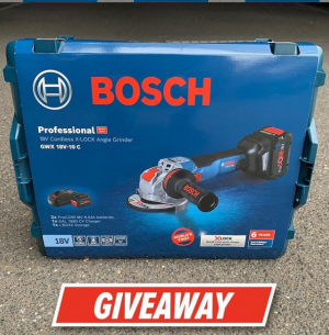 Total Tools Australia – Win a Bosch X-Lock Grinder Kit & Accessories