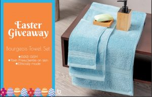 Trends Alley – Win 3 pieces of Bourgeois towel