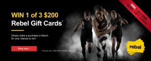 York Fitness – Win 1 of 3 Rebel gift cards valued at $200 each