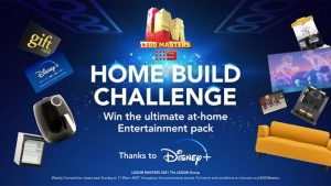 9Now – Lego Master – Home Build Challenge – Win a major prize valued over $20,000 OR 1 of 25 Weekly prizes valued at $200 each