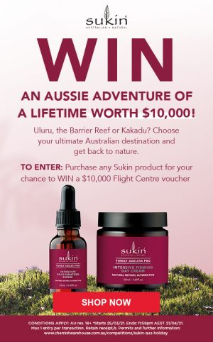 Chemist Warehouse – Buy Sukin to Win a $10,000 Flight Centre gift card