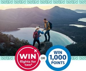 Flybuys – Win 1 of 50 major prizes of a Flight Certificate for 2 valued at $1,000 each OR 1 of 1,000 minor prizes