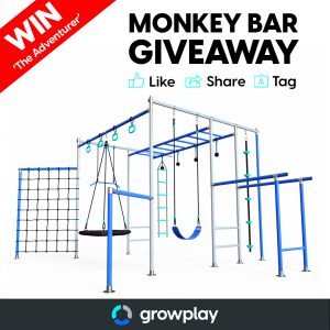 Growplay Monkey Bars – Win a Monkey Bar set valued at over $2,700
