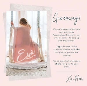 Hexi Australia – Win a personalised blanket in any style or colour